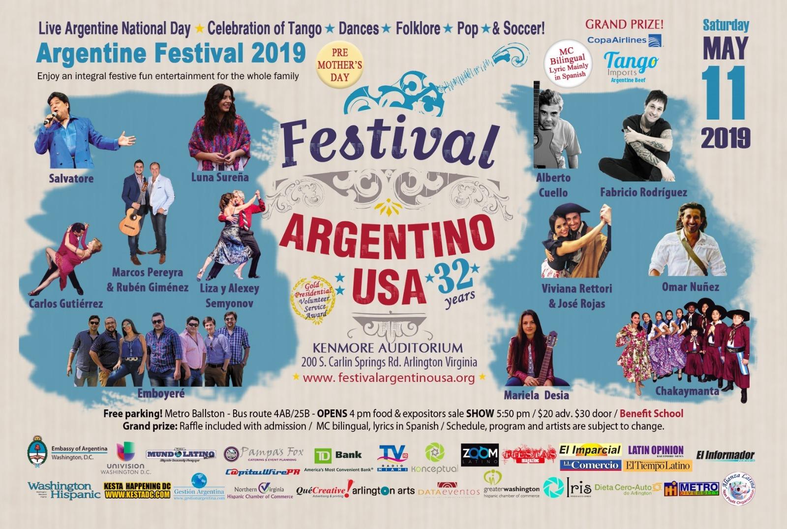 Festival Argentino USA » Tango, dances, folcklore, pop and more!